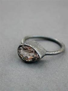 morganite engagement ring wedding ring modern rustic eclectic With eclectic wedding rings