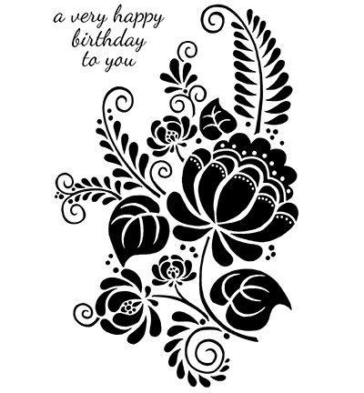 transparent stamp flower silhouette size   cm