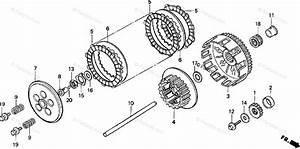 Honda Motorcycle 1998 Oem Parts Diagram For Clutch