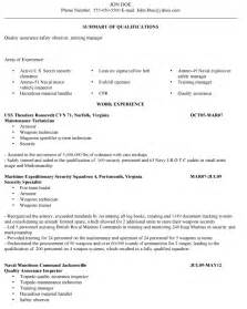 Veteran Resume by Veterans Resume Help Best Resume Exle