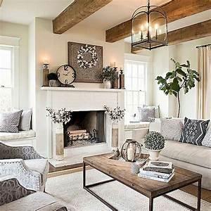 Cozy, Farmhouse, Living, Room, Decor, Ideas, 53