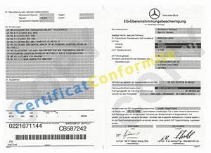 Certificat De Conformité Mercedes : certificat de conformit europ en coc france ~ Gottalentnigeria.com Avis de Voitures