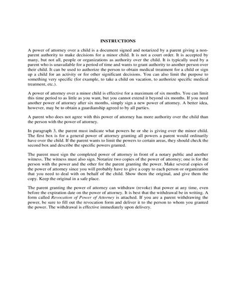 health care power of attorney form arizona health care power of attorney over minor child arizona