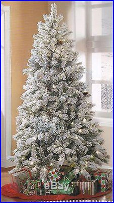 Dillards Christmas Trees For Sale by New Artificial Christmas Tree 7 5 Tall Winter Frost