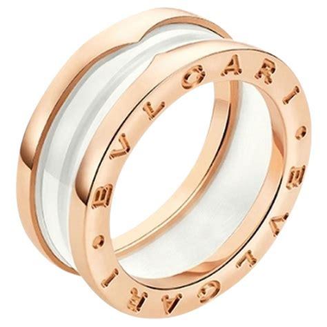 bulgari bzero1 bulgari jewelry b zero1 18k gold white ceramic 2 band