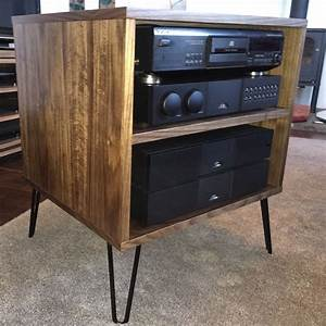 Tv Hifi Rack : walnut tv hifi rack cabinet retro hairpin legs ~ Michelbontemps.com Haus und Dekorationen