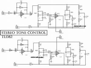 Stereo Tone Control Circuit Uses Tl084   Tl074