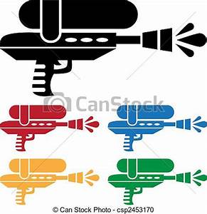 Pics For > Water Gun Fight Clipart