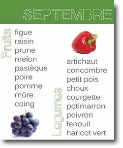 Fruits De Septembre : fruits et l gumes du mois de septembre vivre vegan organic way of living pinterest food ~ Melissatoandfro.com Idées de Décoration
