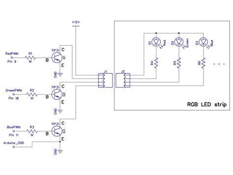 Transistors Use Arduino Control Rgb Strip