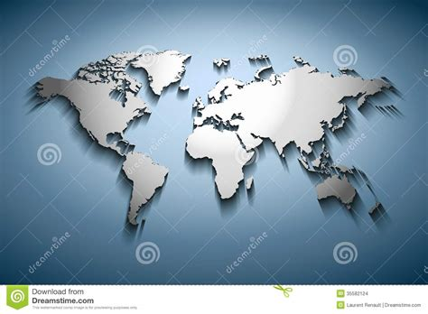 Carte Vectorielle Monde Powerpoint by Carte Du Monde De Relief Images Stock Image 35582124
