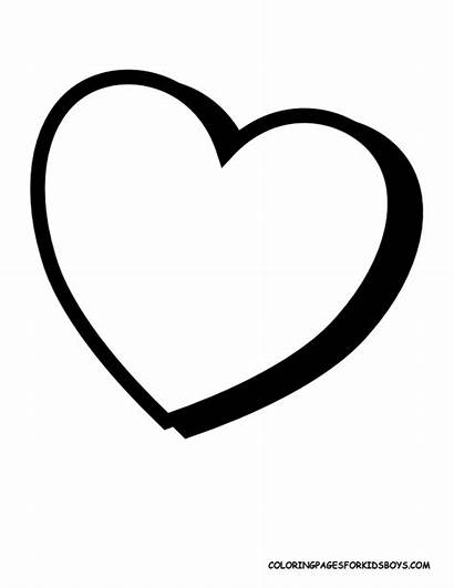 Heart Coloring Pages Colouring Drawing Printable Valentines