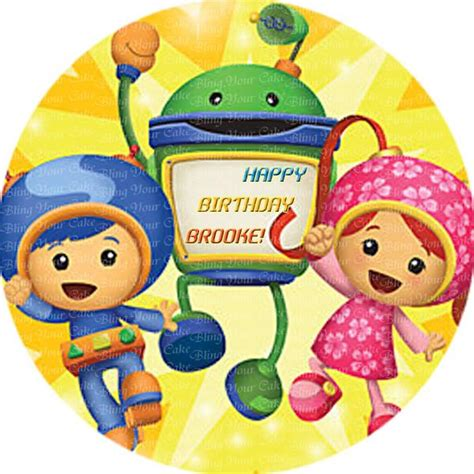 team umizoomi edible icing sheet cake decor topper bling