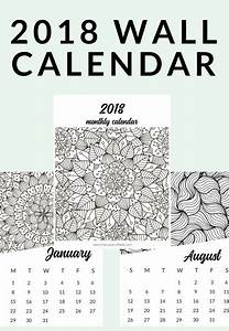 Free Printable 2020 Adult Coloring Calendar
