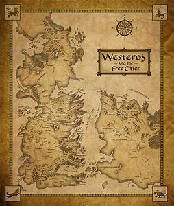 Westeros and the Free Cities map - Game of Thrones Fan Art ...