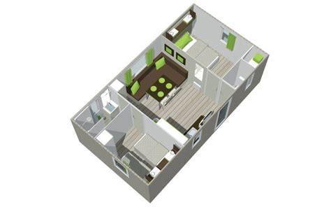plan 騁age 3 chambres location mobil home 2 chambres avec terrasse vendée