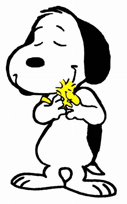 Snoopy Clipart Muah Hugging Transparent Peanuts Silhouette