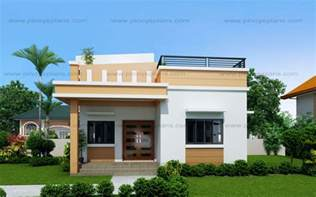 small split level house plans maryanne one storey with roof deck shd 2015025 eplans
