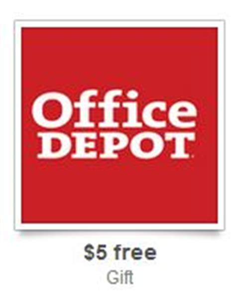 Office Depot Coupons Free Gift With Purchase by Office Depot 10 30 Coupon Free 5 Gift Card Offer