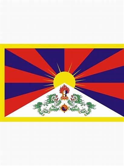 Tibet Flag Tibetan Sticker Vlajka Drapeau Lama