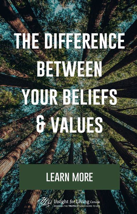 whats  difference  beliefs  values