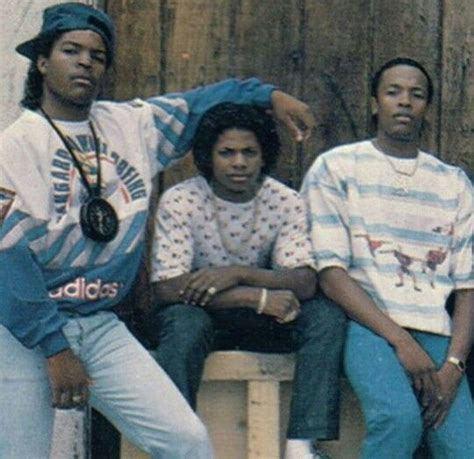 A Young Ice Cube, Eazy E And Dr. Dre (left To Right)
