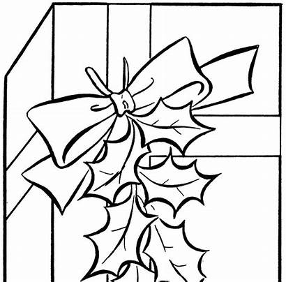 Clip Gift Holiday Grandmother Clipart Coloring Cliparts