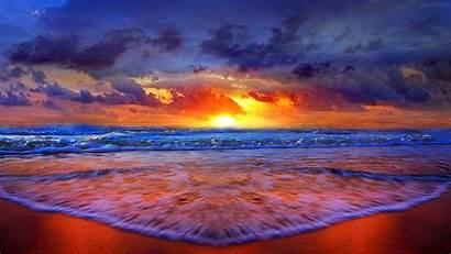 Beach Desktop Sunset Backgrounds Wallpapers Background