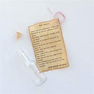 valentine39s day wedding day anniversary engagement gift With message in a bottle love letter