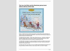The Lion, the Witch and the Wardrobe picture book edition