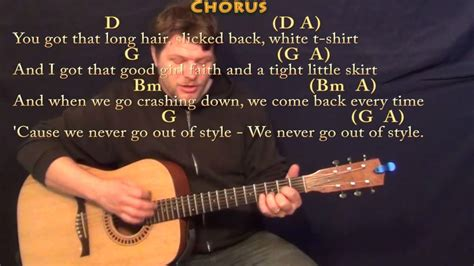 Style (taylor Swift) Strum Guitar Cover Lesson In D With