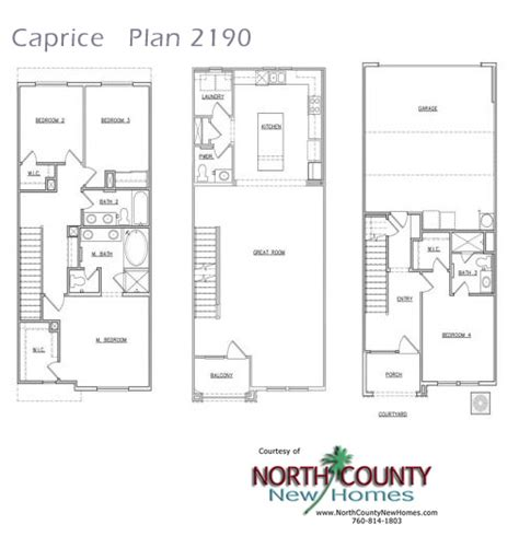 caprice floor plans  homes  san marcos north county  homes