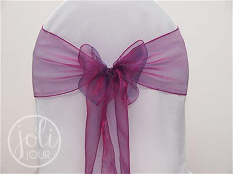 noeud de chaise violet location noeud organza violet aubergine pour chaises