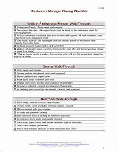 Server Side Work Chart Closing Manager Checklist Workplace Wizards Restaurant