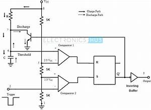 monostable multivibrator using 555 timer With monostable circuit