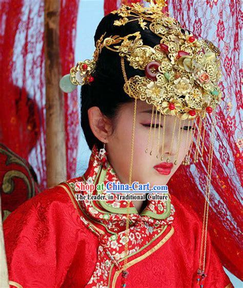 ancient chinese wedding phoenix coronet