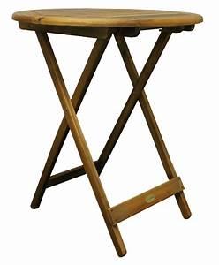 Gartentisch Holz Massiv : colourliving klapptisch gartentisch holz massiv akazienholz rund 60 cm tisch gartenm bel ~ Indierocktalk.com Haus und Dekorationen