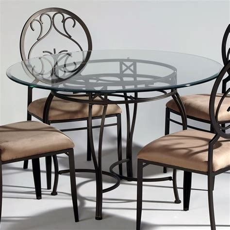 wrought iron kitchen table and chairs wrought iron glass top dining table chintaly imports 2137