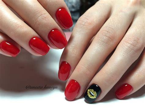 Варианты дизайна ногтей с красным гельлаком