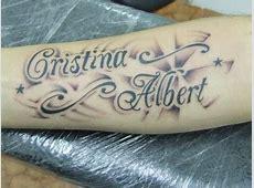Tatuaje de dos nombres Tatuajes de Nombres