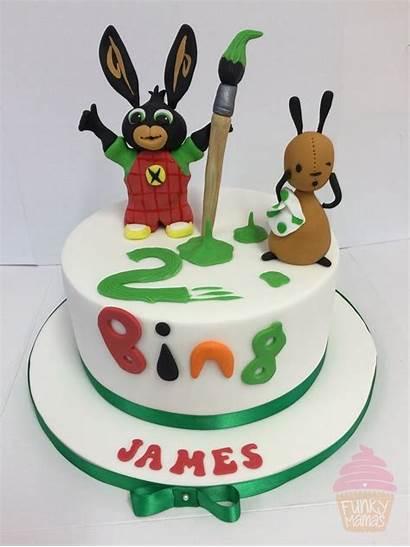 Cake Bing Birthday Cbeebies Cakes Bunny Fondant