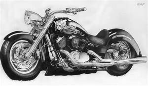 Pencil Drawings: Pencil Drawings Motorcycles