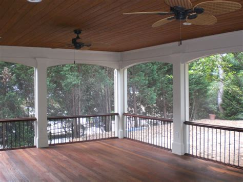 screened in back porches traditional porch atlanta