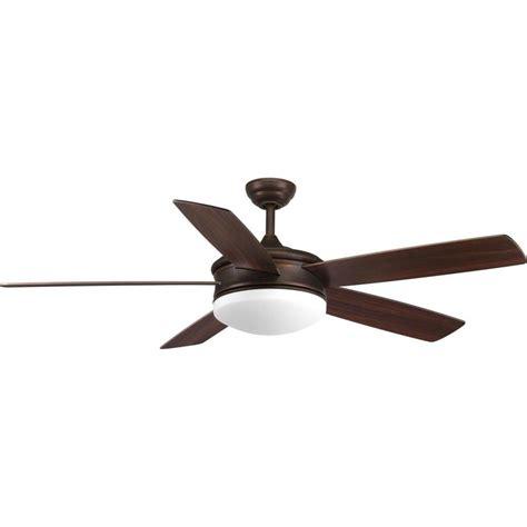 integrated led ceiling fan shop progress lighting fresno 60 in antique bronze