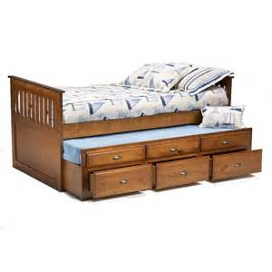 bernards logan twin captain s bed with trundle drawers
