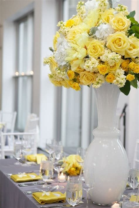 images  yellow  gray wedding ideas