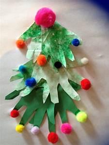 handprint, christmas, tree, craft