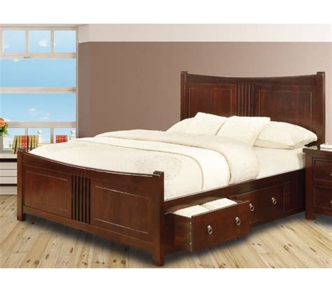 Bed With Drawers by Sweet Dreams Curlew Cherry 5ft King Size Wooden Bed