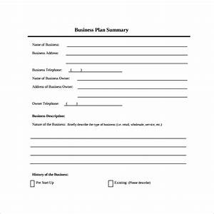 Executive Summary Format Template 9 Business Summary Templates Samples Examples Formats
