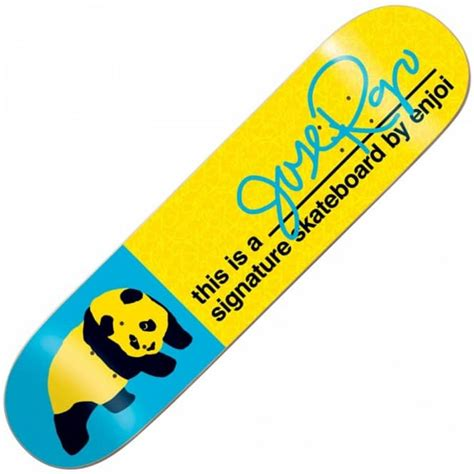 Enjoi Skateboard Deck 775 by Enjoi Skateboards Enjoi Jose Rojo Signature Deck 7 75